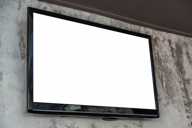 Blank TV Screen Mockup PSD