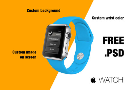 Blue Belt Watch Free Customizable Design Template