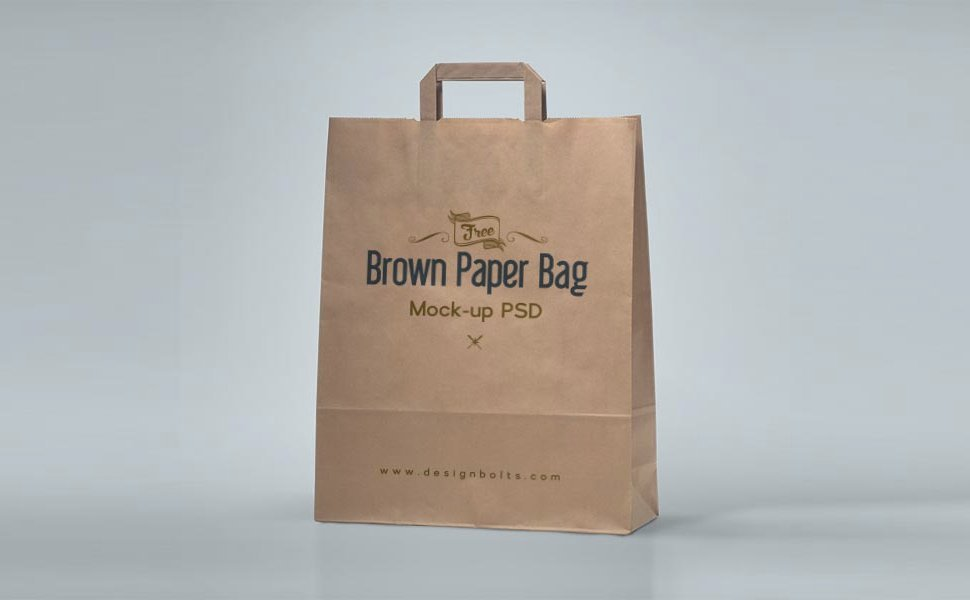 Brown Old Style Shopping Bag Mockup PSD