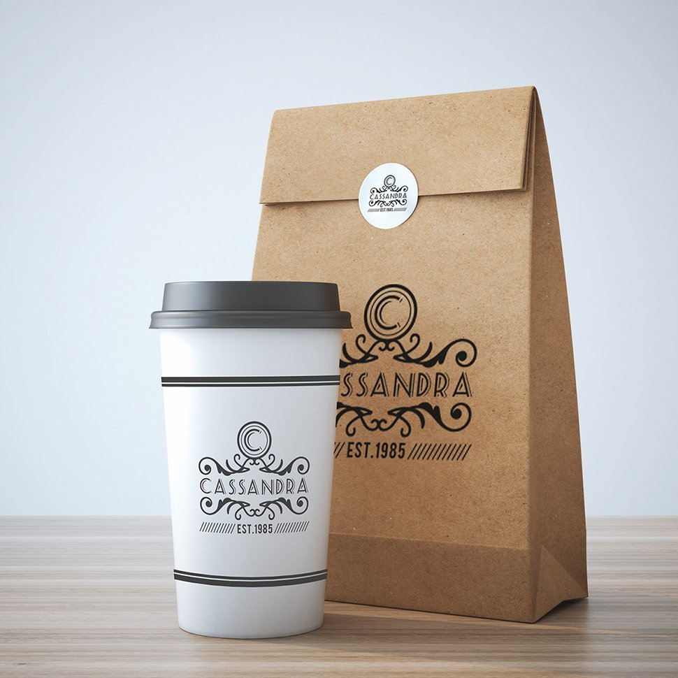 Brown Paper Bag and a Coffee Mug PSD
