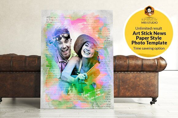 Canvas Painting Of A Happy Couple