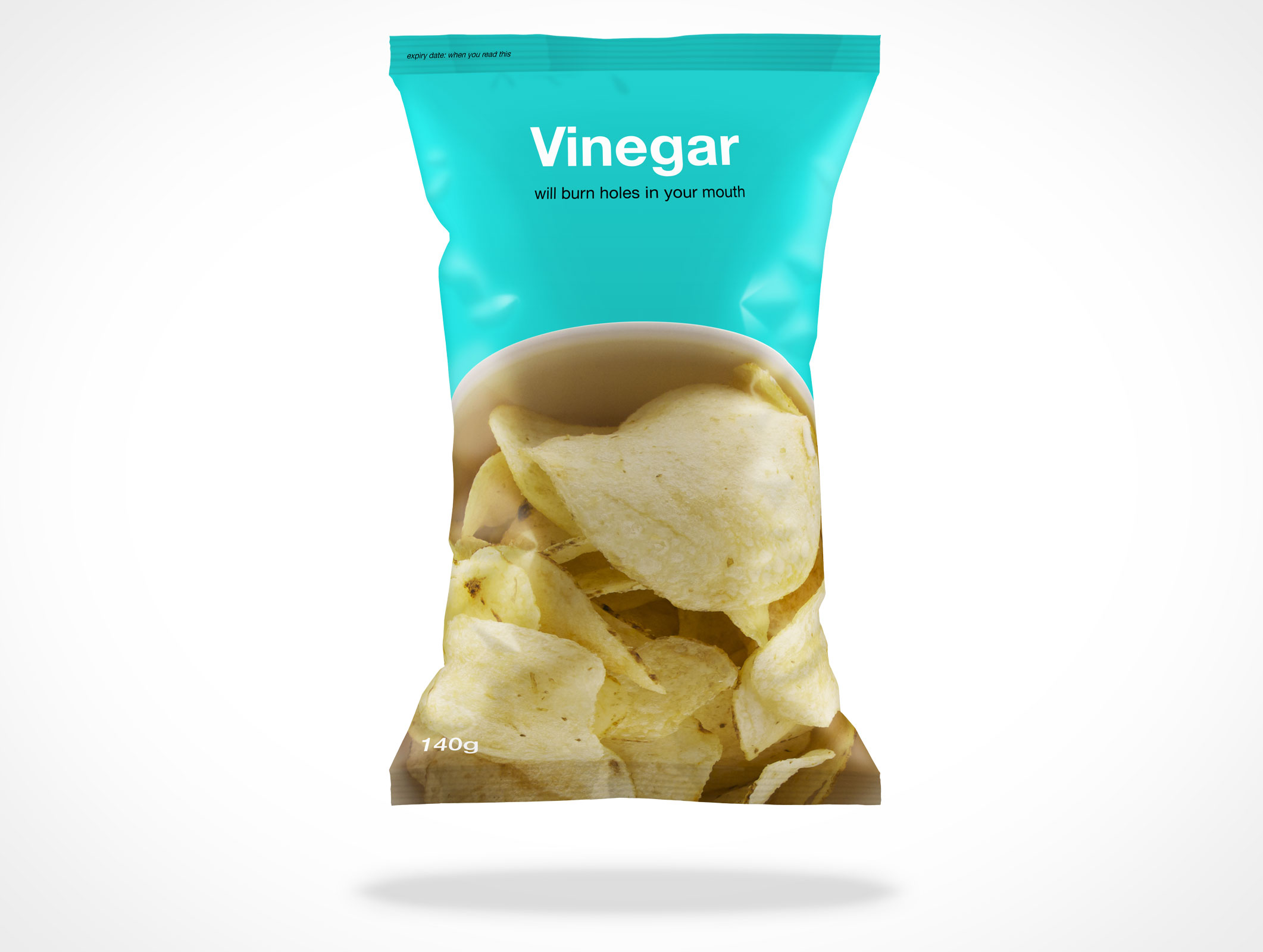 Chips Pouch PSD Design template