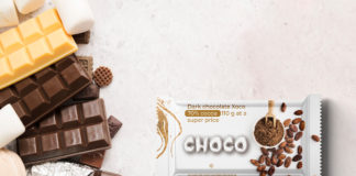 Free Chocolate Bar Packaging Mockup PSD Template