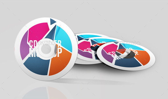 Colorful DVD Cover Mockup PSD