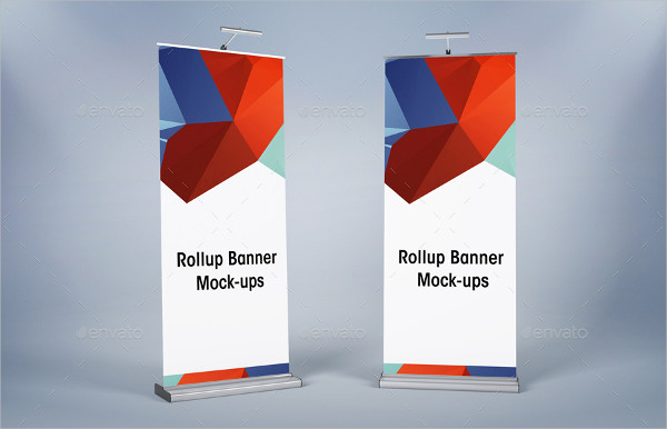 Corporate Banner Roll-Up Mockup PSD