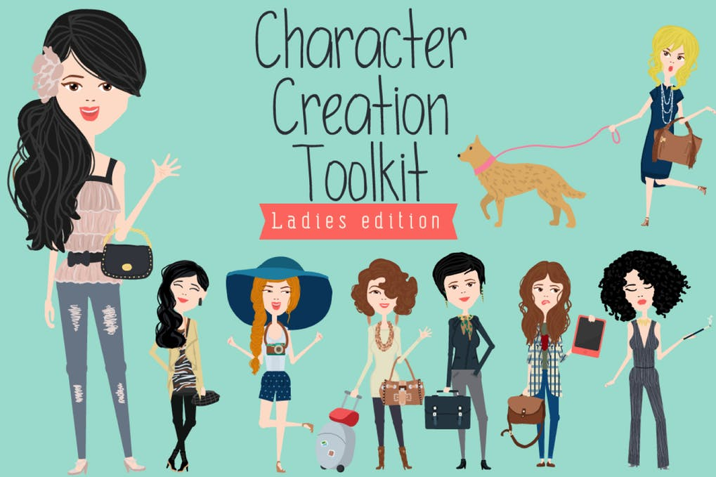 Creation Toolkit Characters Design PSD