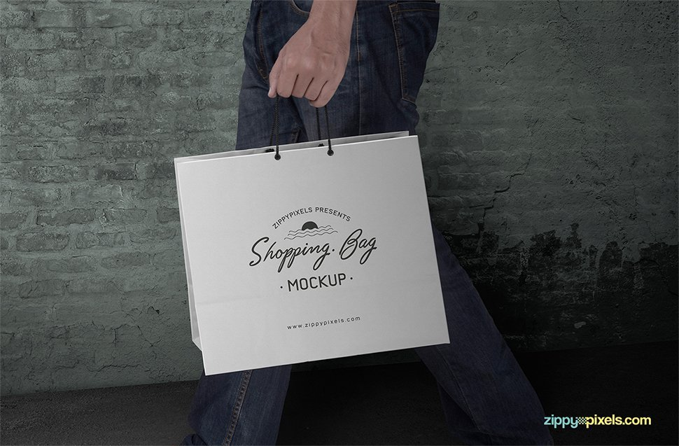 Customizable Free Shopping Bag Mockup PSD