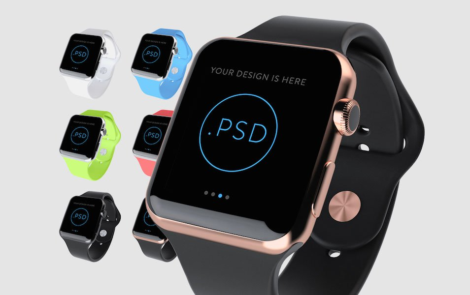 Customizable Template PSD Smart Design Watch