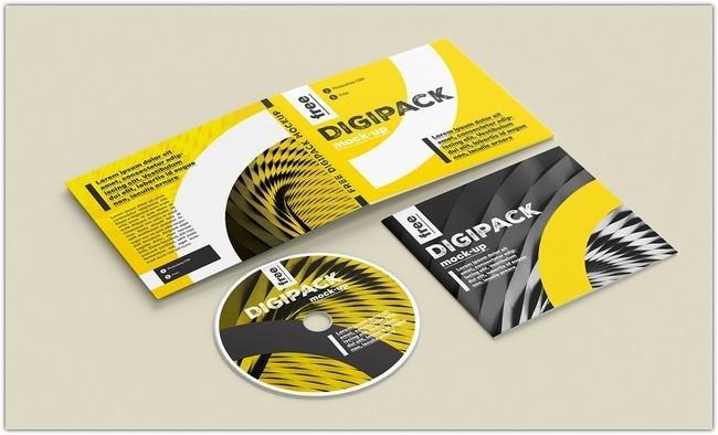 Digipack Free PSD DVD Cover Mockup PSD