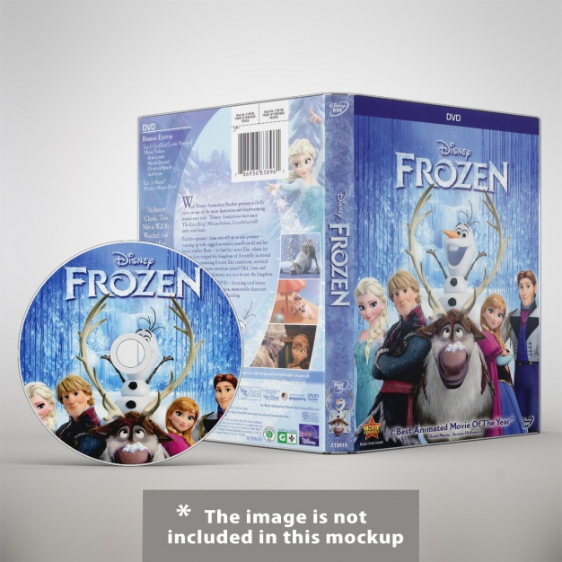 Disney DVD Cover Image In PSD Format