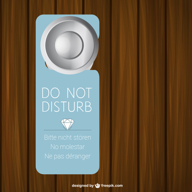 Do Not Disturb Door Sign Editable Vector