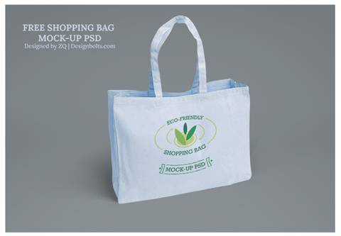 Eco Friendly Shopping Bag Mockup PSD