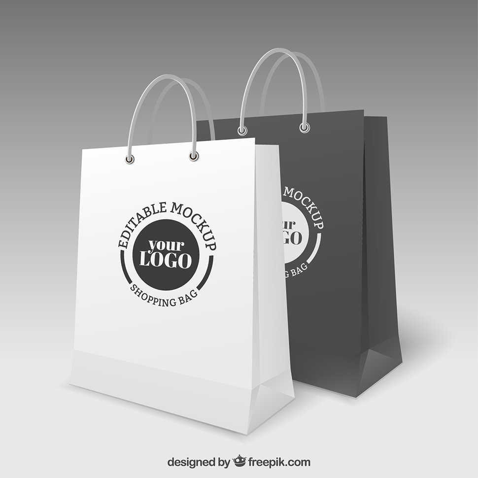 Editable Vector Shopping Bag Mockup (Free)