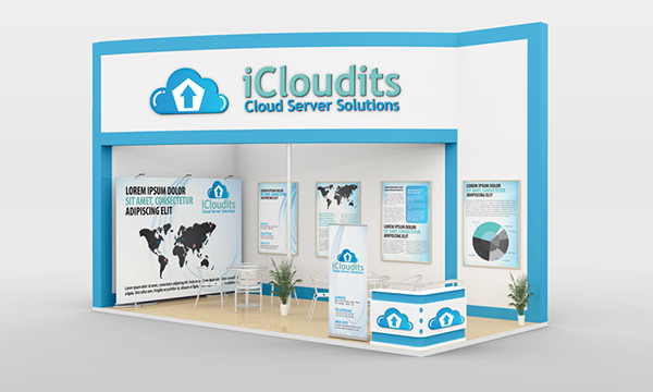 Exhibition Stand Roll-Up Design Mockup