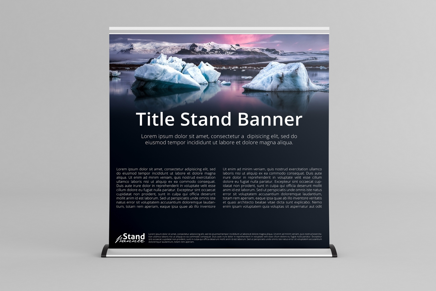 Extra Wide - Roll Up Banner Stand Mock-Up