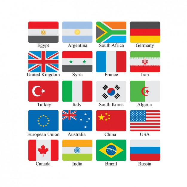 Flag Icon Set Vector Format