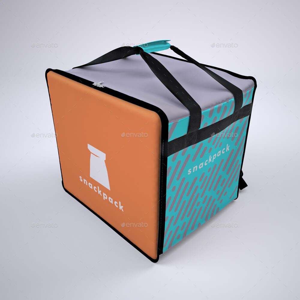 Food Delivery Backpack Mock-Up