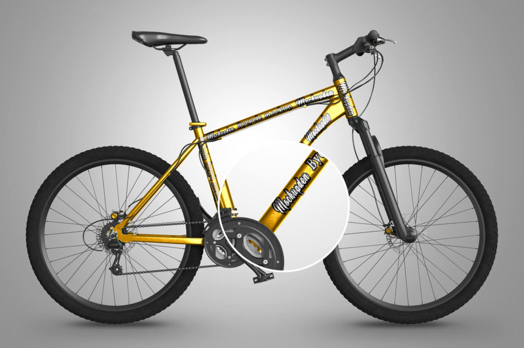 done Free Bicycle Mockup PSD Template