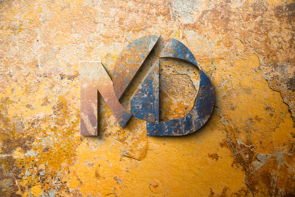 Free Close-up Logo Mockup PSD Template