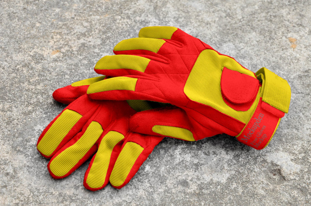 Free Gloves Mockup PSD Template