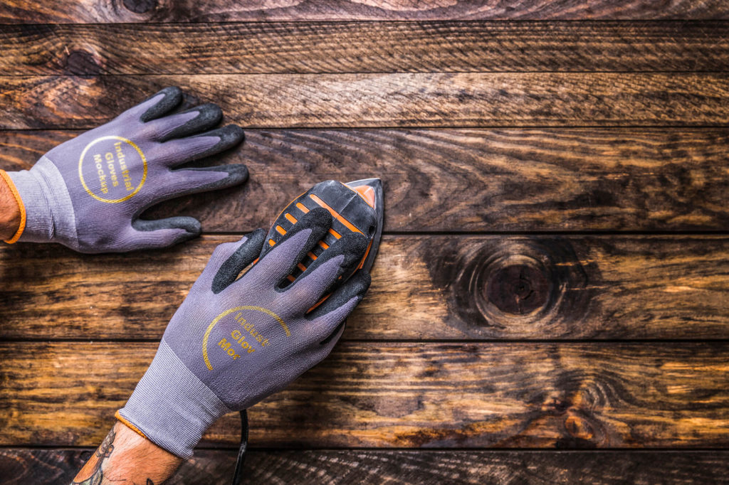 Editable Free Industrial Gloves Mockup PSD Template