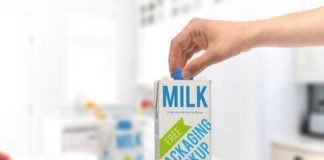 Free Milk Carton Mockup PSD Packaging Mockup: