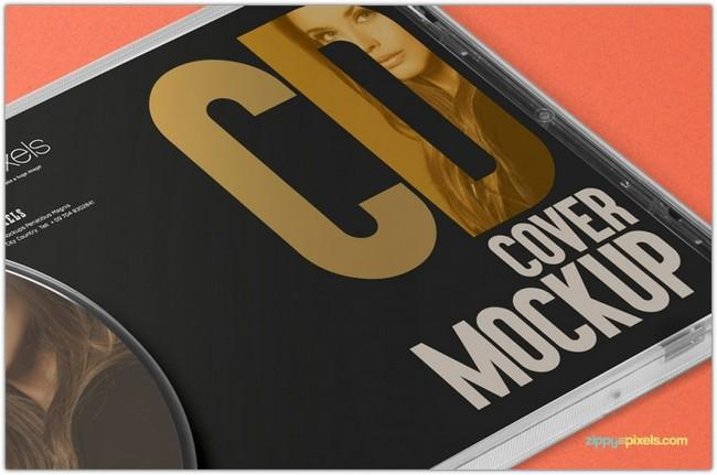 Free PSD CD and DVD Case Illustration