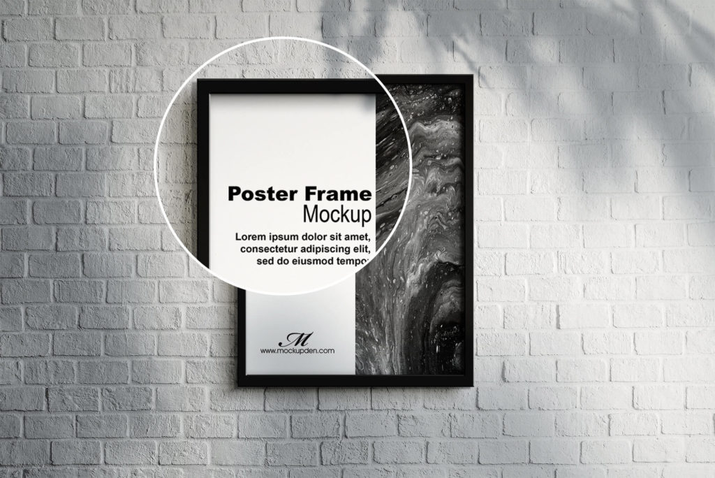 Free Poster Frame Mockup PSD Template