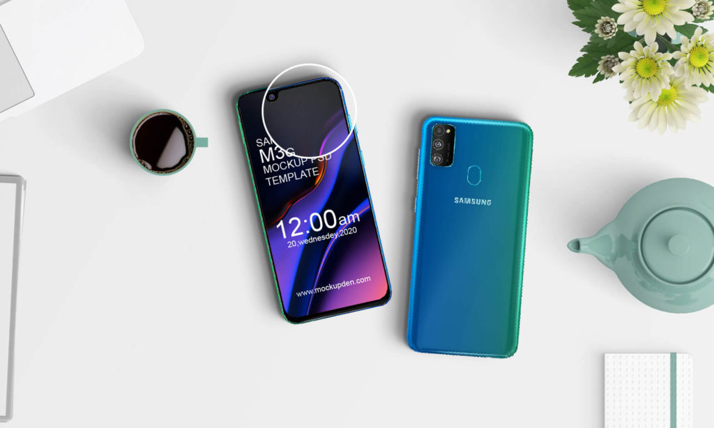Free Samsung M30s Phone Mockup PSD Template