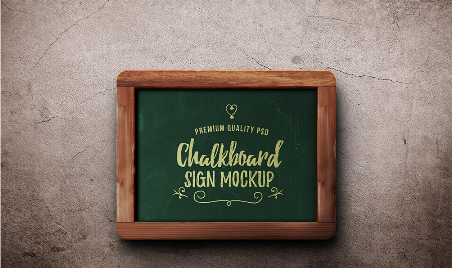 Free Vector Wooden Frame Chalkboard PSD