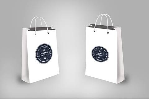 Free Vintage looks Shopping Bag Mockup