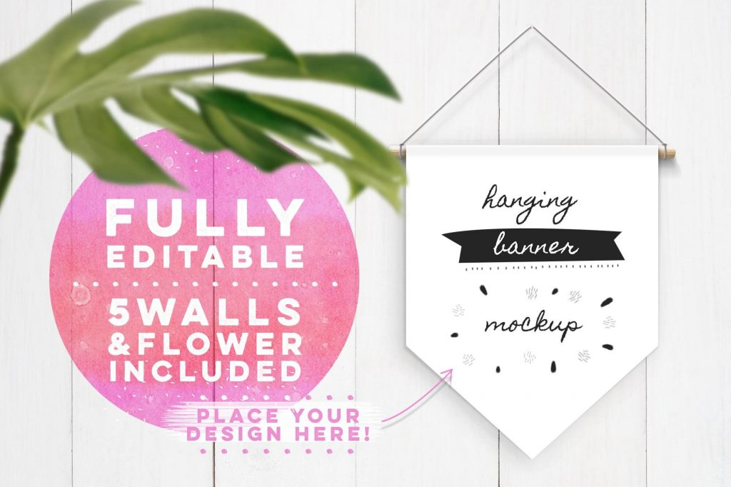 Fully Editable Hanging Banner