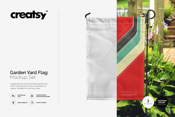 Garden Yard Flag Mockup Set