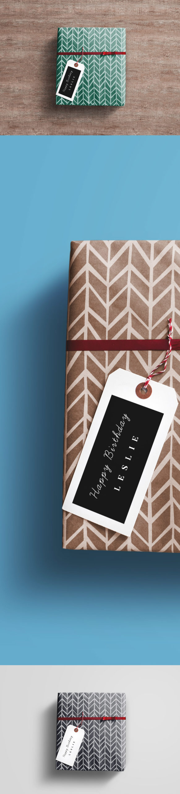 Gift Wrap Box Mockup Template