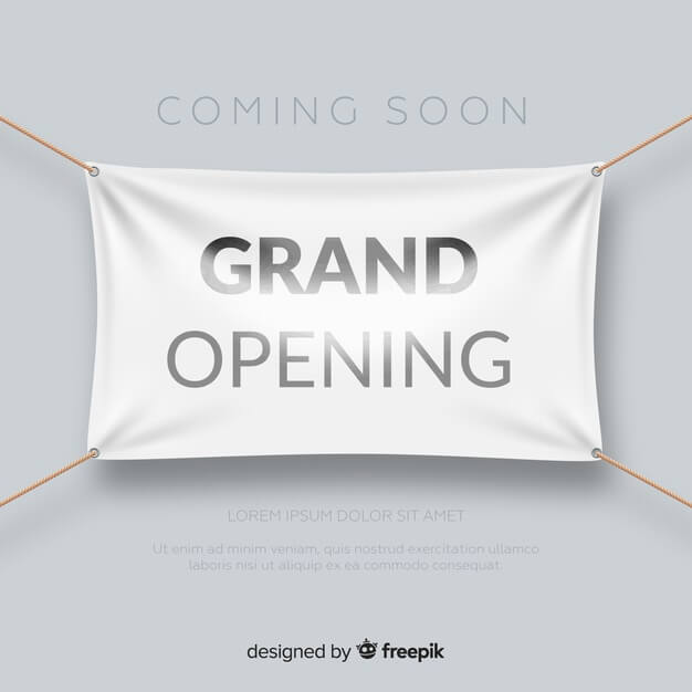 Grand Opening Hanging Banner Template Design