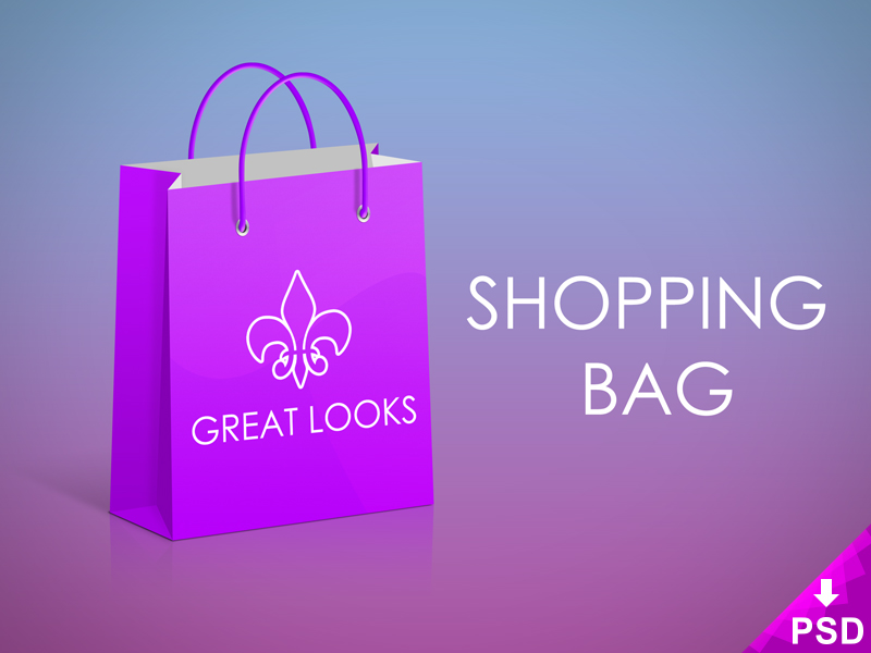 Great Looks Shopping Bag Mockup (Free)