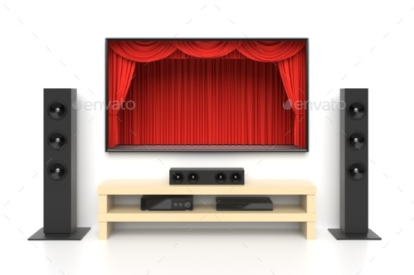 Home Cinema Set 3D Illustration