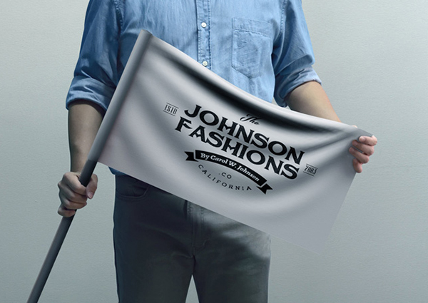 Johnson Fashion Flag Mockup