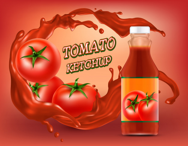 Ketchup In Plastic Bottle Food Container Mockups
