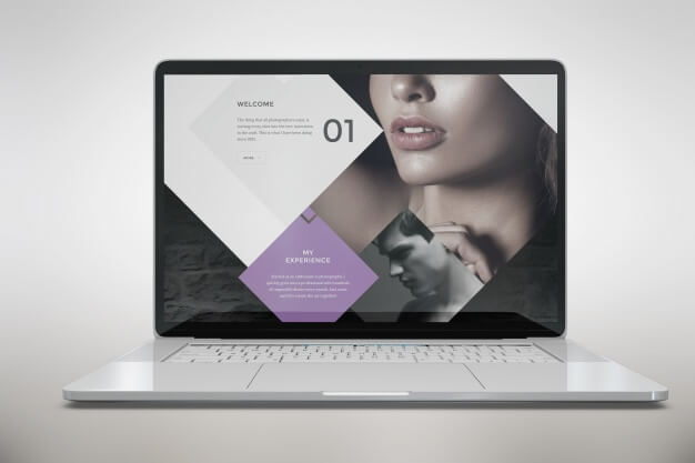 Laptop Mockup Front View PSD Template
