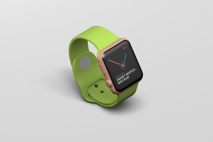 Light Green Color Smart Watch Illustration