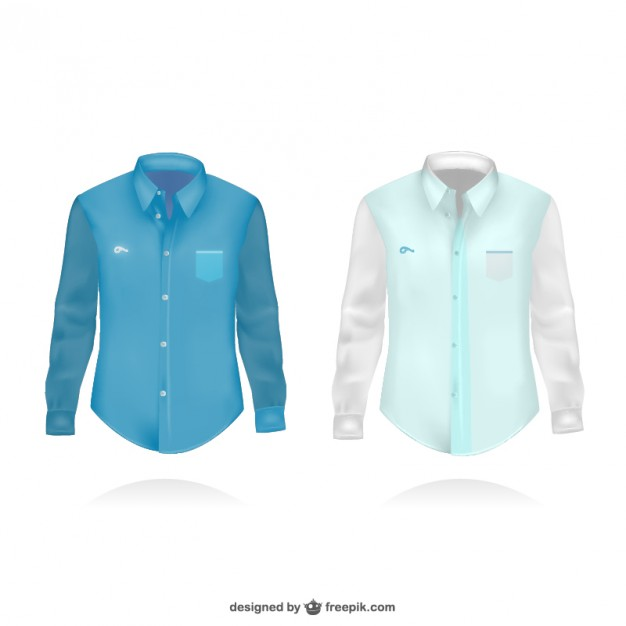 Long sleeve polo shirt Vector :