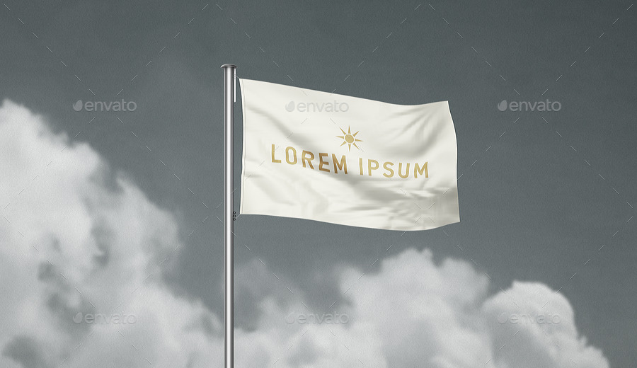 Lorry Office Flag Mockup