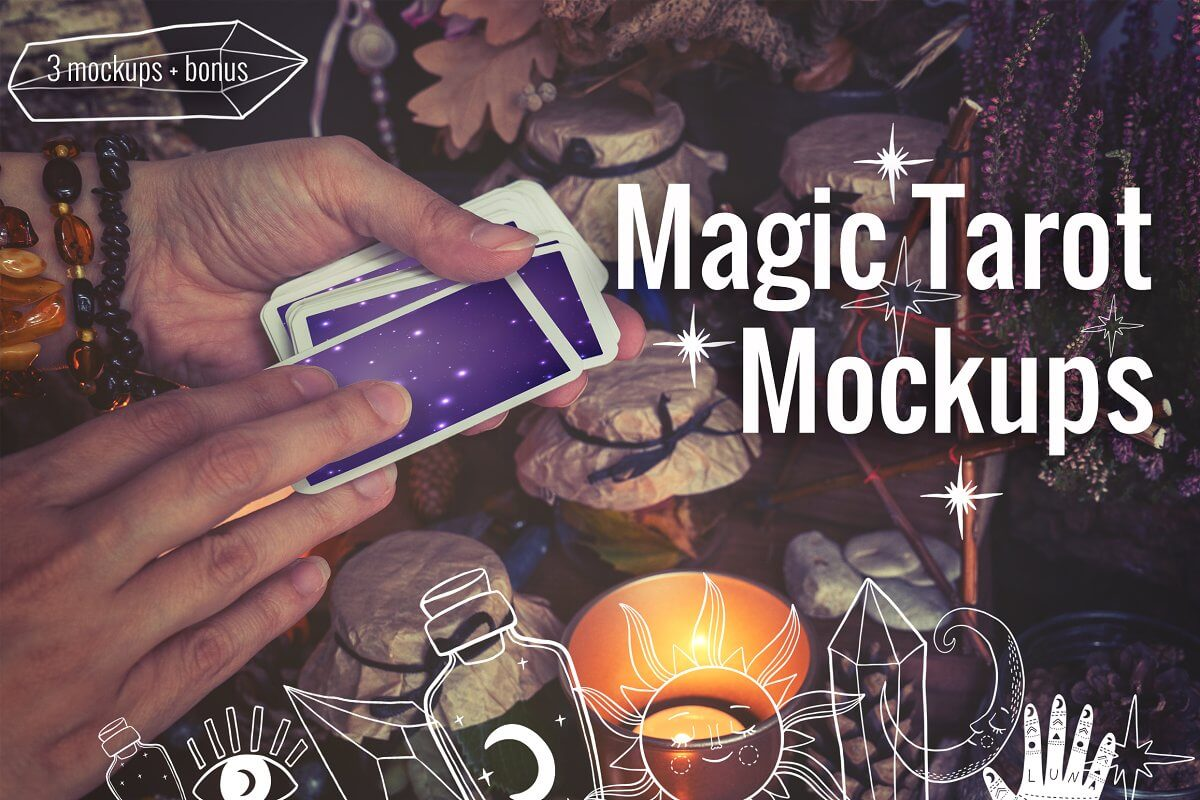 Magic Tarot Cards Mockups