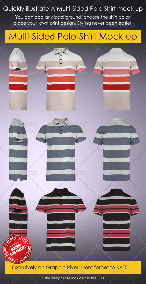 Multi angled Polo T-Shirt design inspiration: