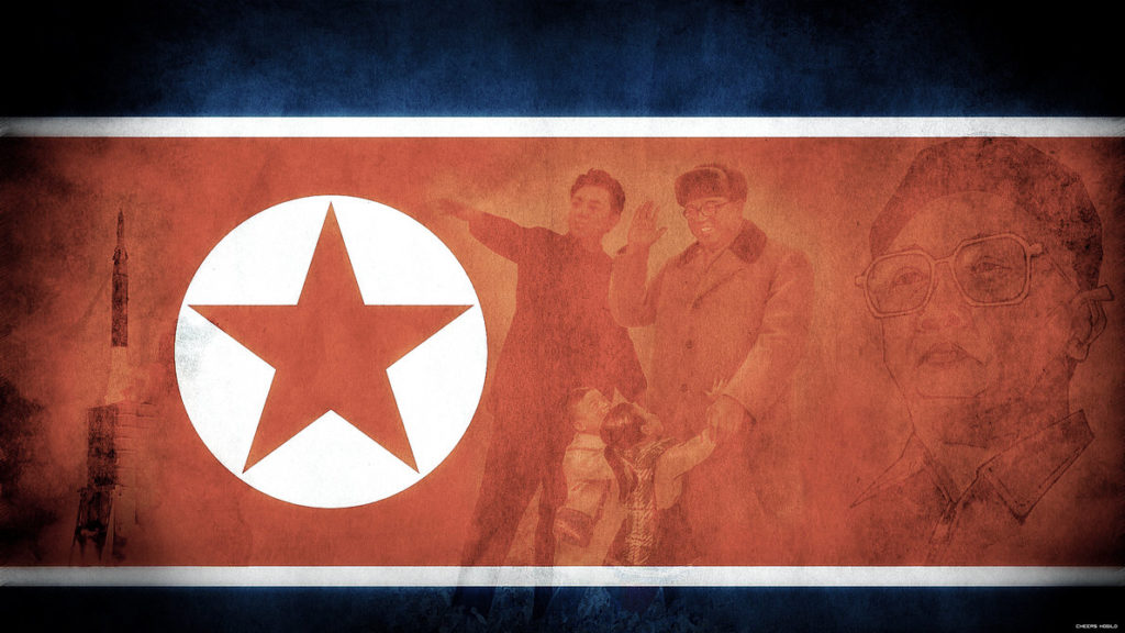 North Korea Flag Mockup