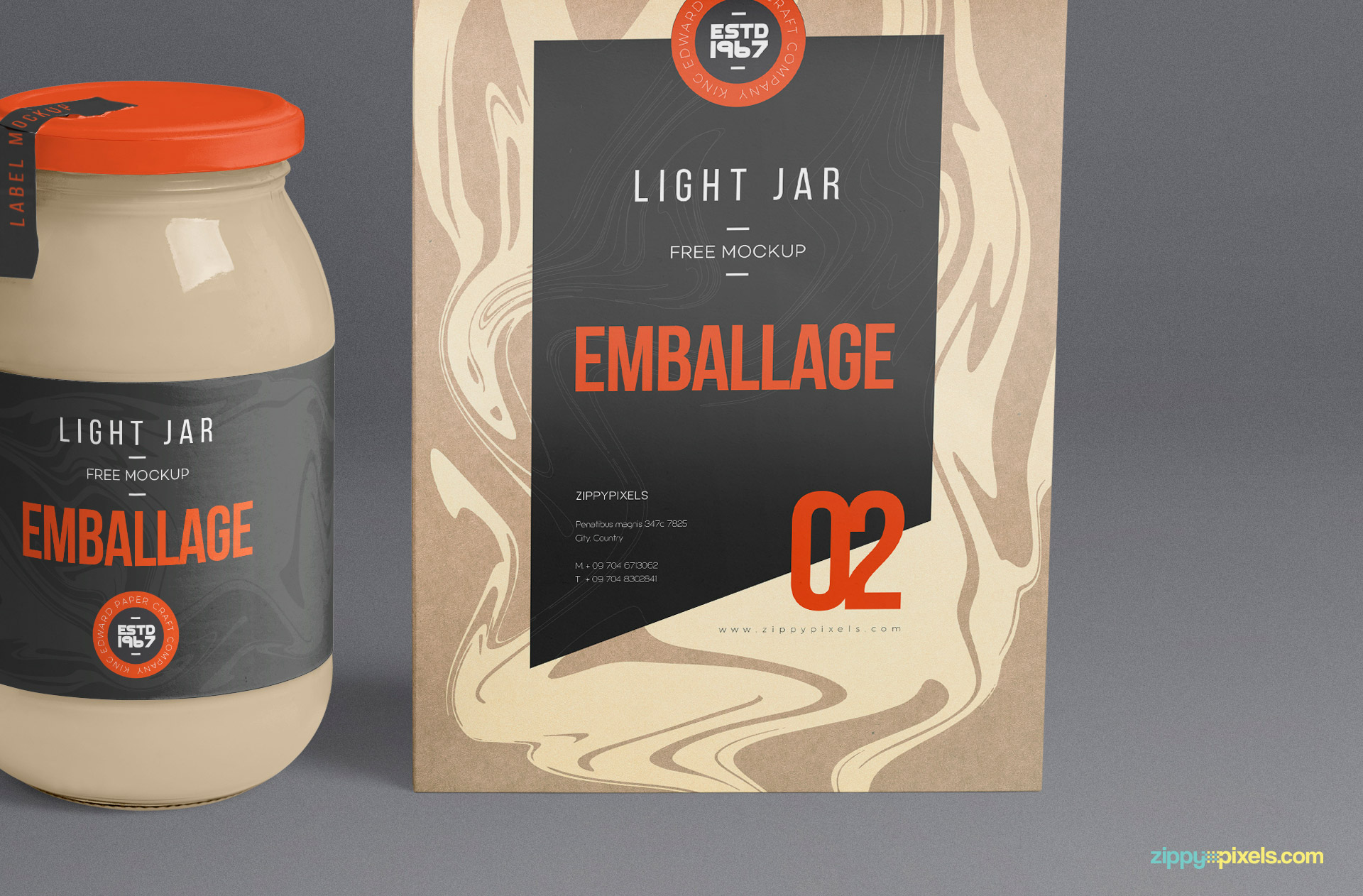 Packaging Glass Jar Mockup