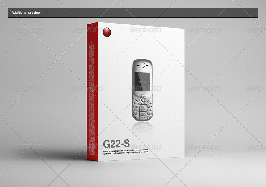 Phone Box Mockup Side View Design