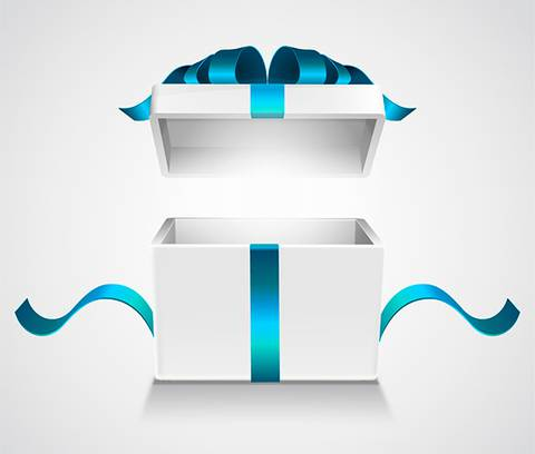Photorealistic Gift Packing Box Vector File