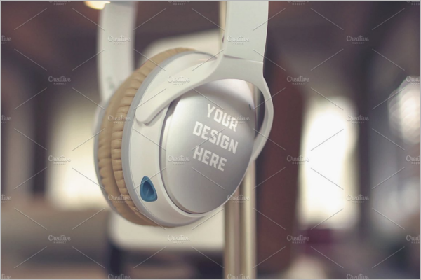 Photoshop Design Headphone Design Template